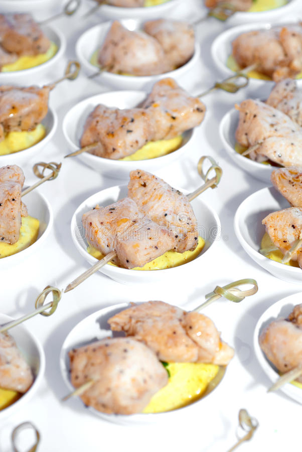 Download Chicken Hors d'oeuvres stock image. Image of food, white - 23094377