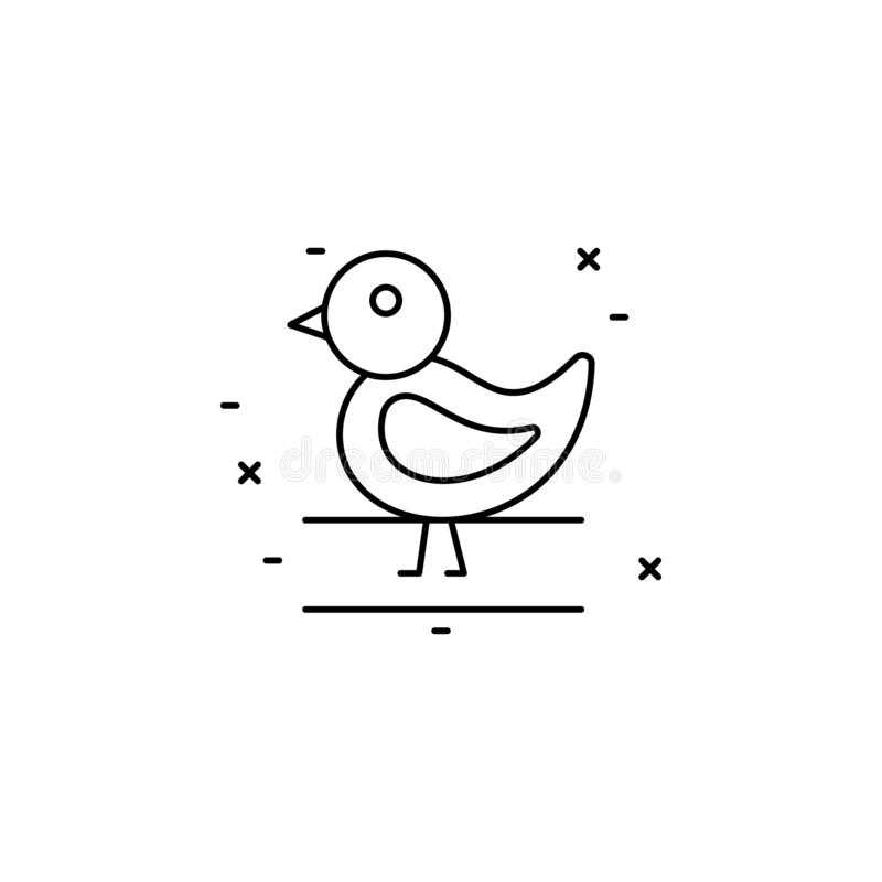 chicken icon. Simple thin line, outline  of Agriculture icons for UI and UX, website or mobile application stock illustration