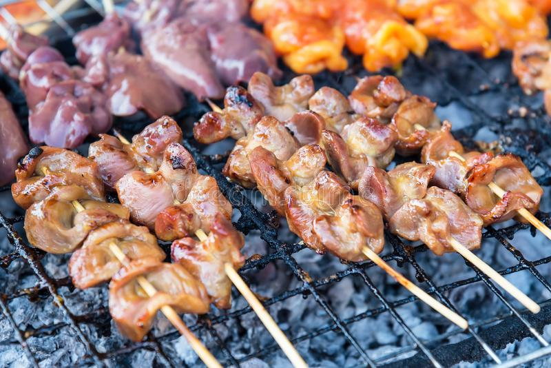 Chicken internal organs grill on charcoal stove at sattahip mark download chicken internal organs grill on charcoal stove at sattahip mark stock photo image of ccuart Images