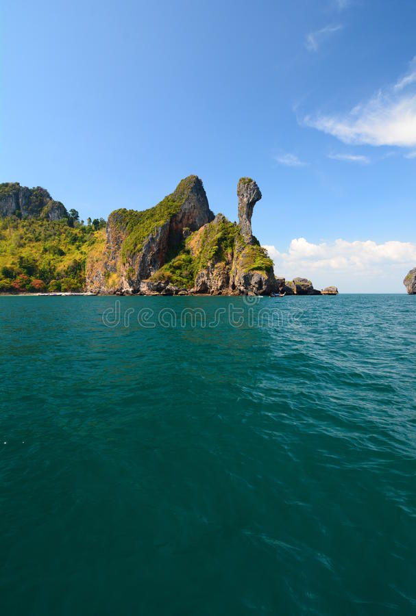 Chicken Island Between Phi Phi Islands And Krabi Thailand Stock - Where is thailand located
