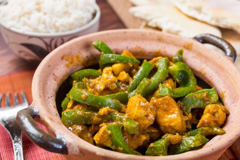 Chicken Jalfrezi - Indian or Pakistani Curry royalty free stock photos