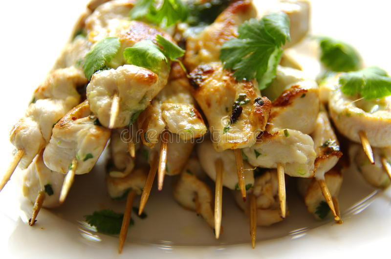 Chicken Kebabs Stock Photography