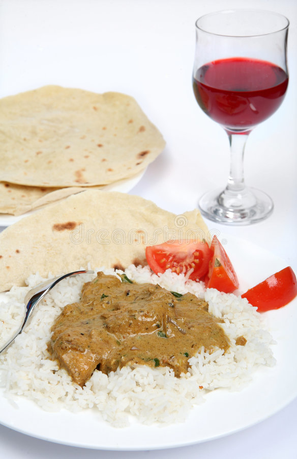 Download Chicken korma curry stock image. Image of vertical, bread - 8313513