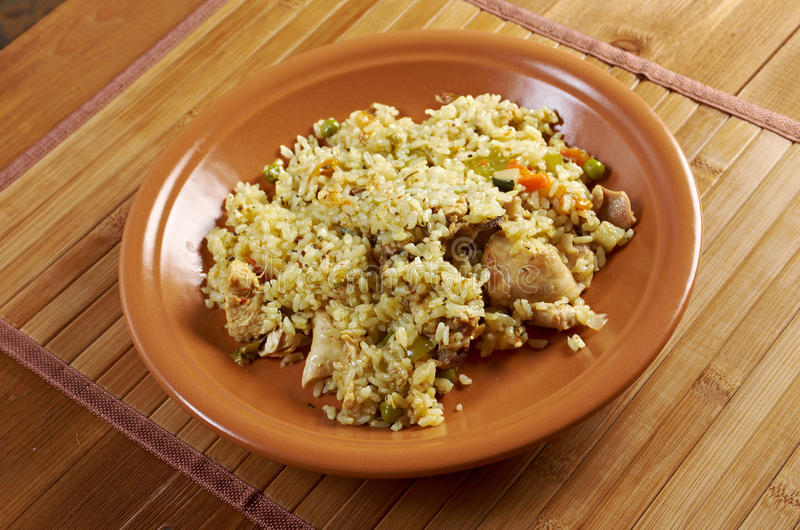 Download Chicken l pilaf stock image. Image of traditional, beef - 31364351