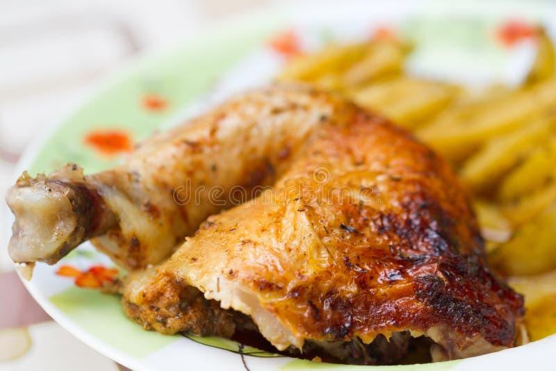 Download Chicken leg with potatos stock photo. Image of fresh - 27406554