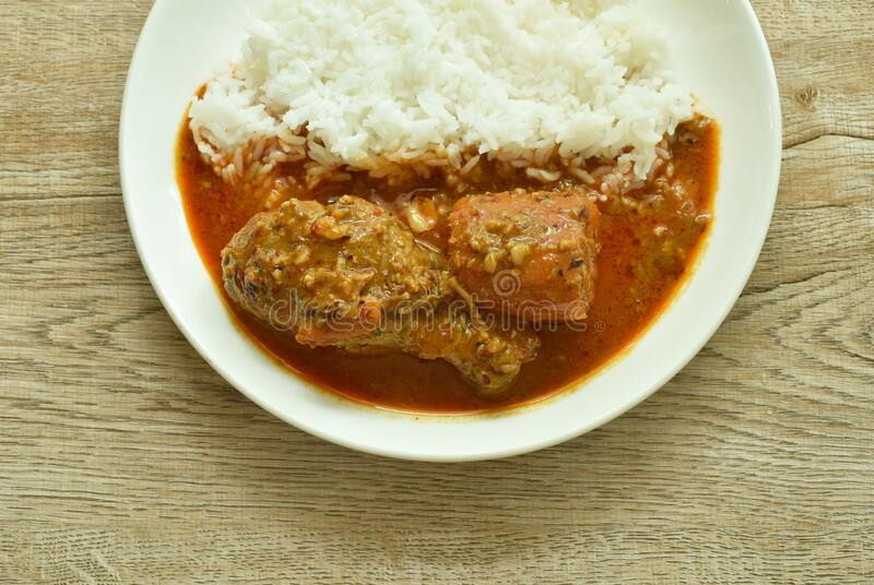 Chicken mussaman curry stock photo. Image of grass, milk ...