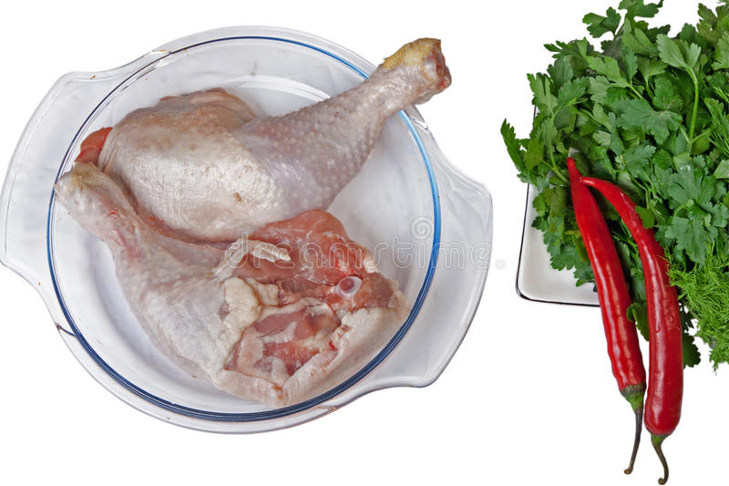 Download Chicken Legs, Parsley, Chili And Fennel Stock Photo - Image: 13469020