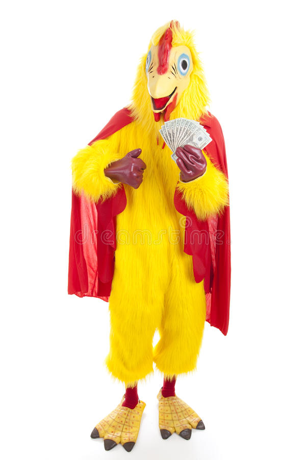 Chicken Man With Cash Stock Photos