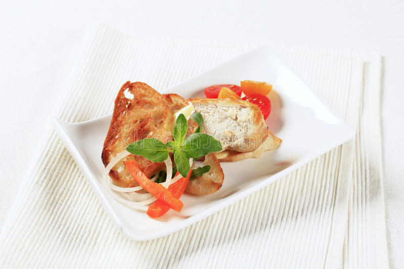 Download Chicken Meat And Crispy Bread Stock Image - Image: 24507881