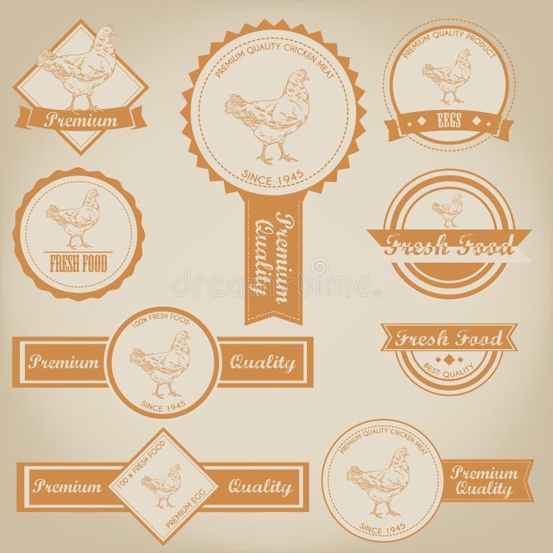 Chicken Meat Label Design stock illustration