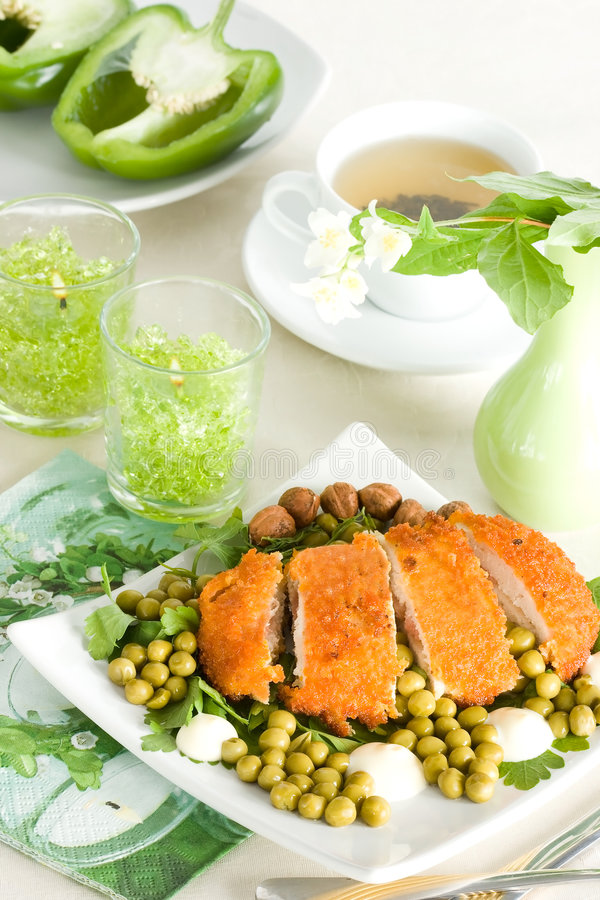 Download Chicken Meat With Pea Stock Image - Image: 5749451
