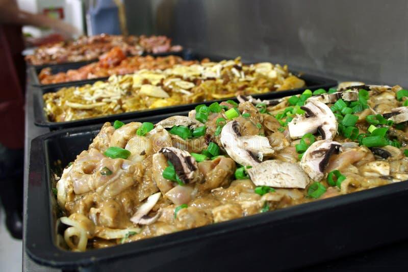 Chicken mixtures 1 stock image