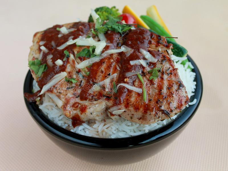 Mexican cuisine Chicken mole poblano stock image