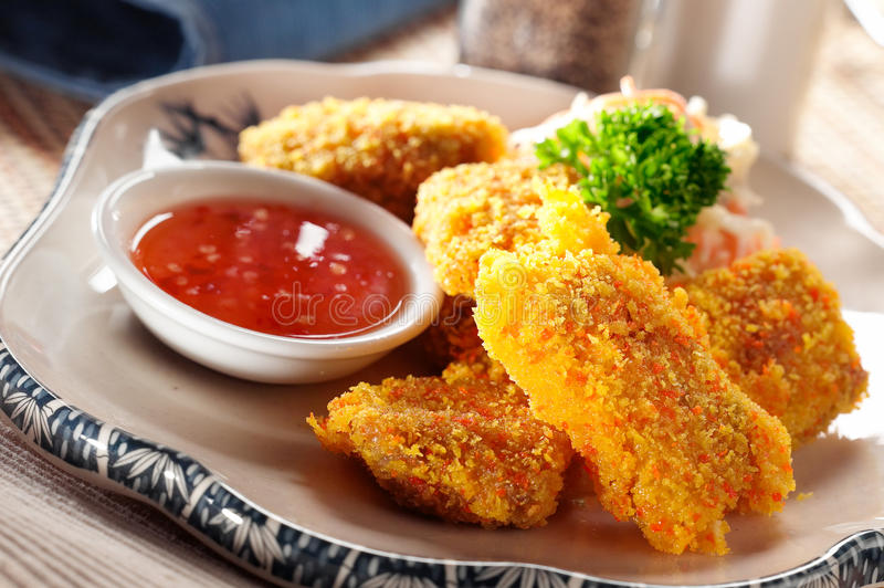 Chicken nugget stock photography