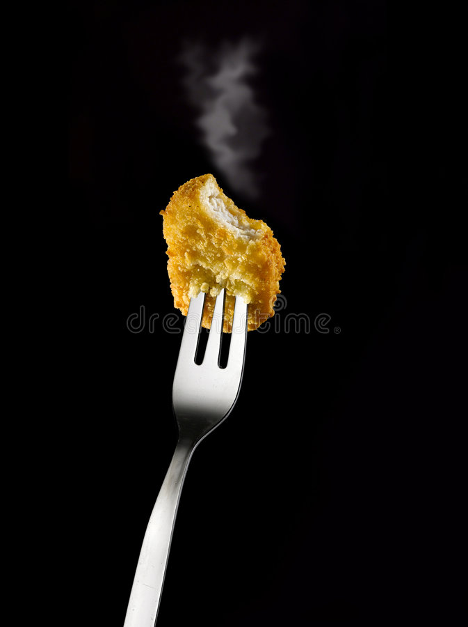 Chicken nugget stock photo