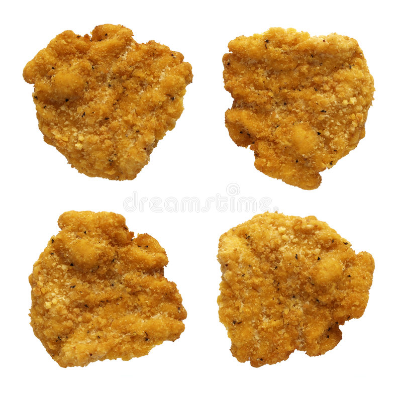 Chicken Nuggets. Against a white background. Isolation is on a transparent layer in the PNG format royalty free stock images