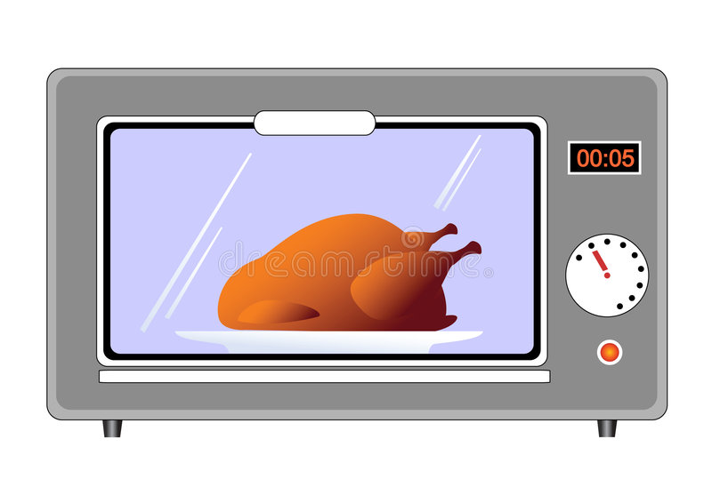 Download Chicken in Oven stock vector. Image of graphic, electrical - 6791042
