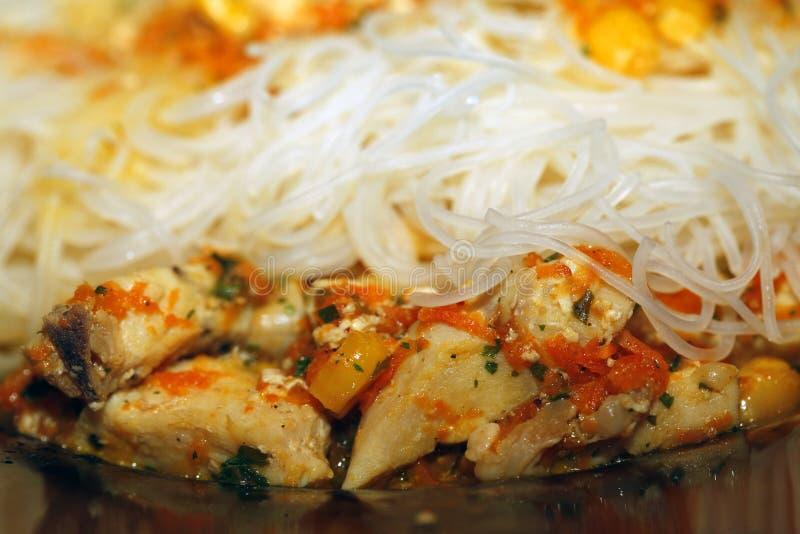 Chicken pastas stock photos