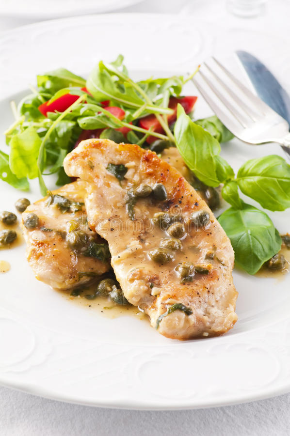 Free Chicken Piccata Royalty Free Stock Photo - 23277295