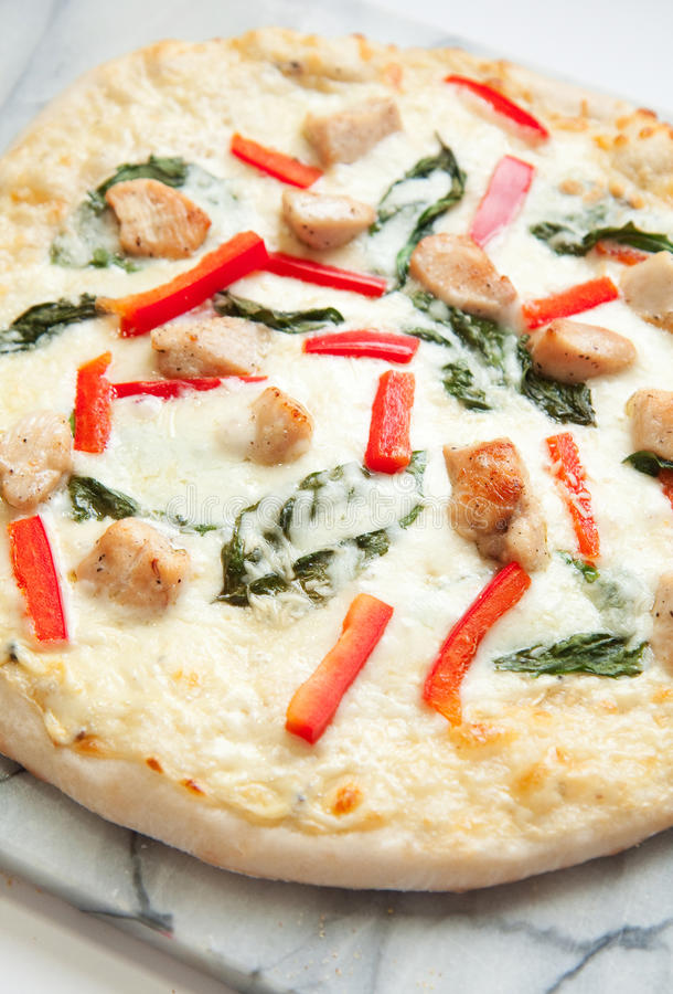 Download Chicken Pizza stock image. Image of crust, pizza, white - 16388307