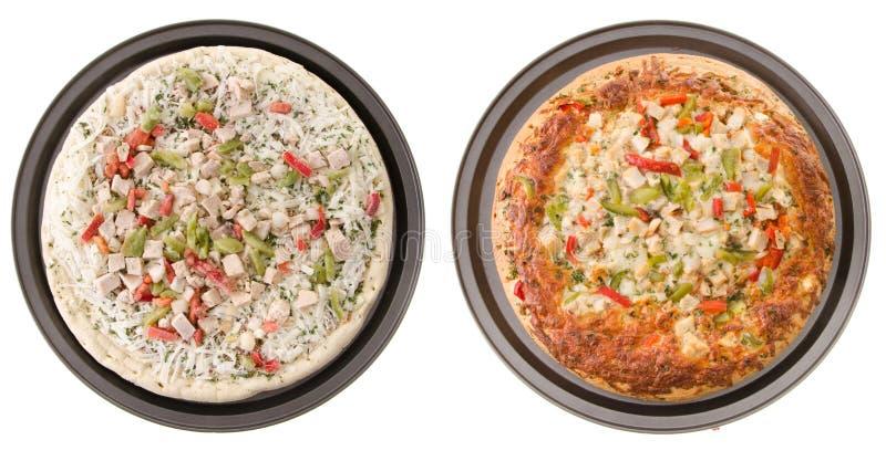 Chicken Pizza Stock Image