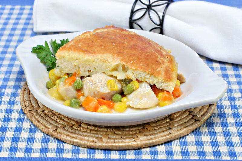 Download Chicken Pot Pie stock photo. Image of meal, cubed, poultry - 12359226