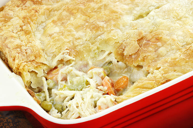 Chicken Pot Pie 3 stock photo
