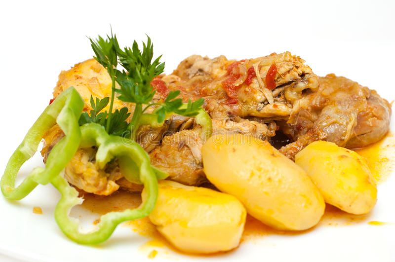 Chicken And Potatoes Royalty Free Stock Images