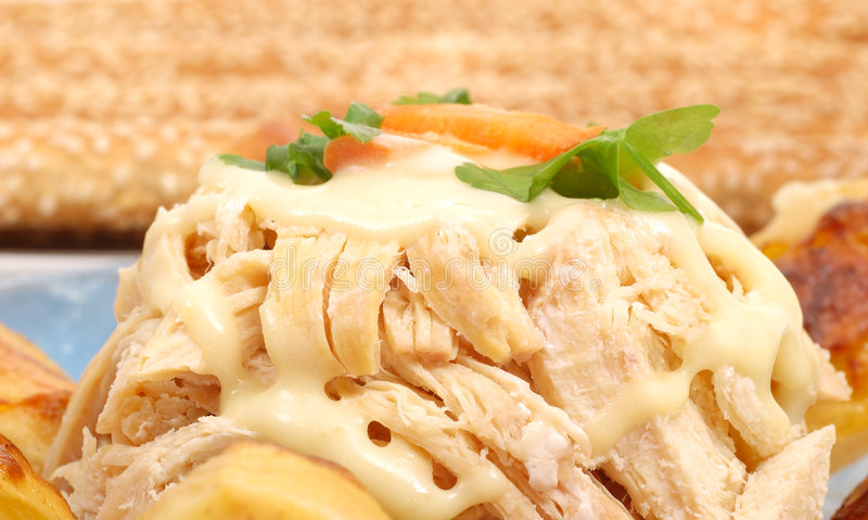 Download Chicken recipe stock photo. Image of food, cheese, close - 1799504