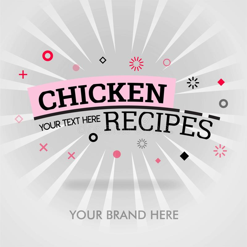 Chicken recipes cookbook. how to cook chicken recipes. tips to make best chicken recipes. can be for promotion, advertising, ad. s. Uitable for print, newspaper vector illustration