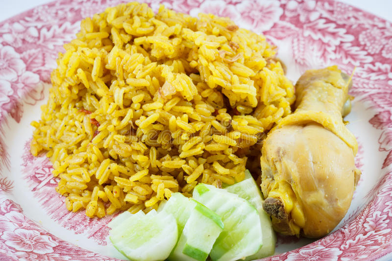 Chicken Rice Curry. With Coconut royalty free stock images