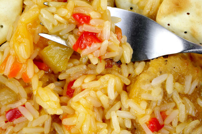 Download Chicken Rice Sweet Sour Sauce Up Close Stock Images - Image: 26789234