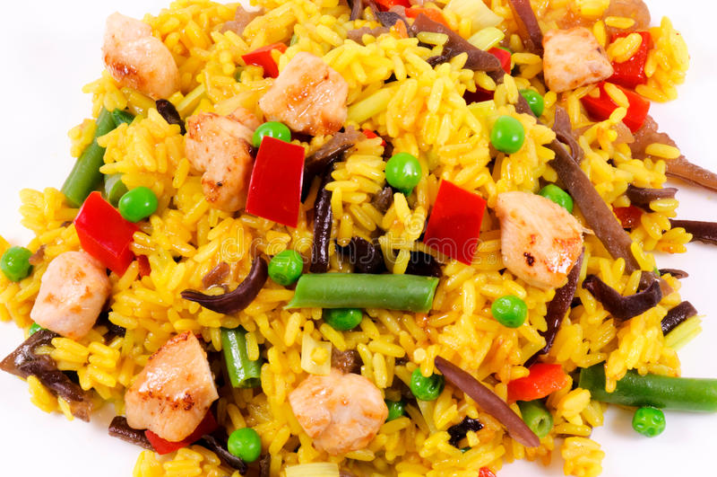 Download Chicken risotto stock photo. Image of shellfish, shrimp - 25491650