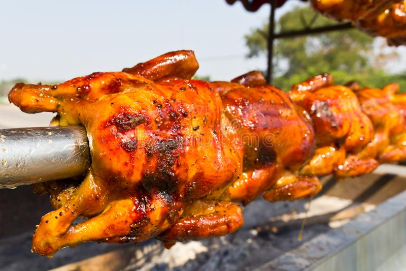 Download Chicken Roasted On The Spit Stock Photo - Image of lunch, christmas: 23357402