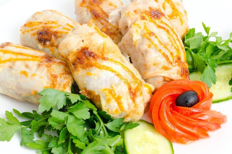 Chicken Rolls Stock Photos