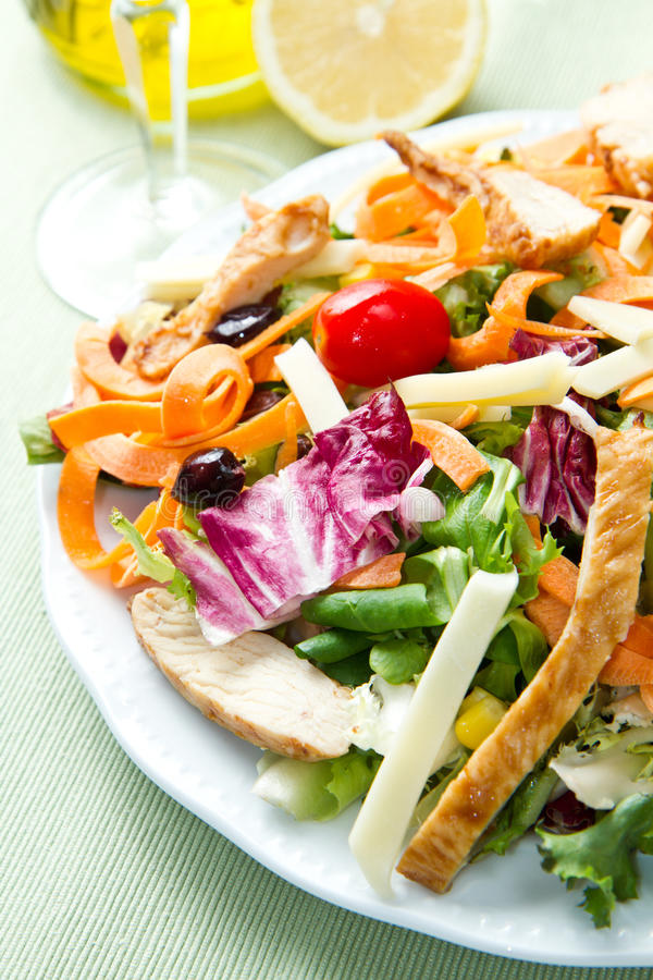 Download Chicken salad stock image. Image of cheese, fresh, meal - 26164209
