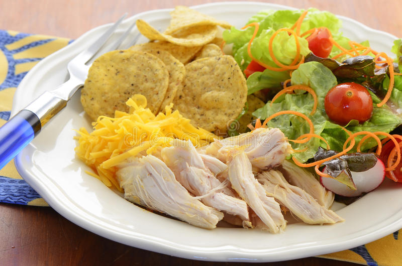 Download Chicken with salad stock image. Image of diet, portion - 37953383
