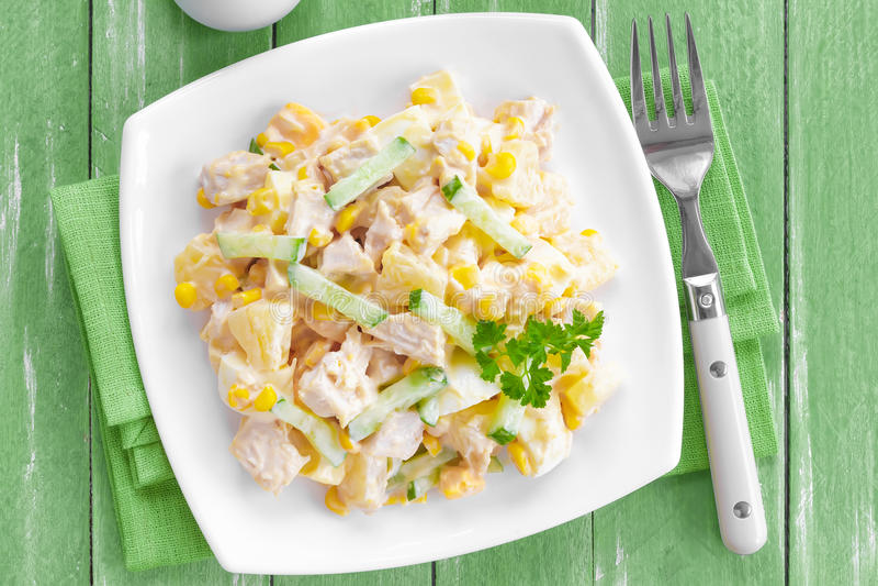 Download Chicken salad stock image. Image of breast, italian, menu - 38349059