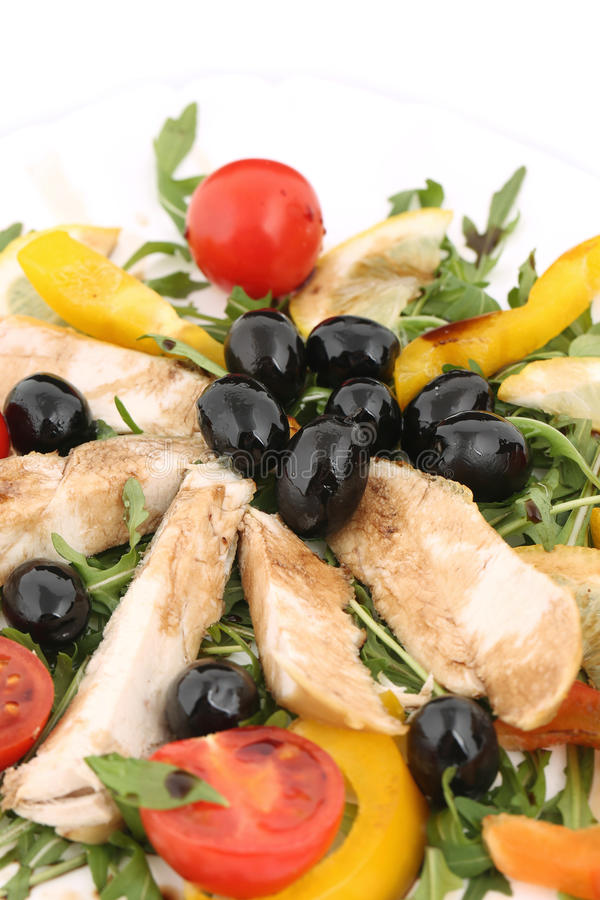 Download Chicken salad close up. stock image. Image of tomatoes - 41528697