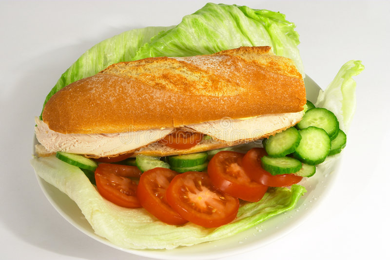Chicken salad roll royalty free stock photography