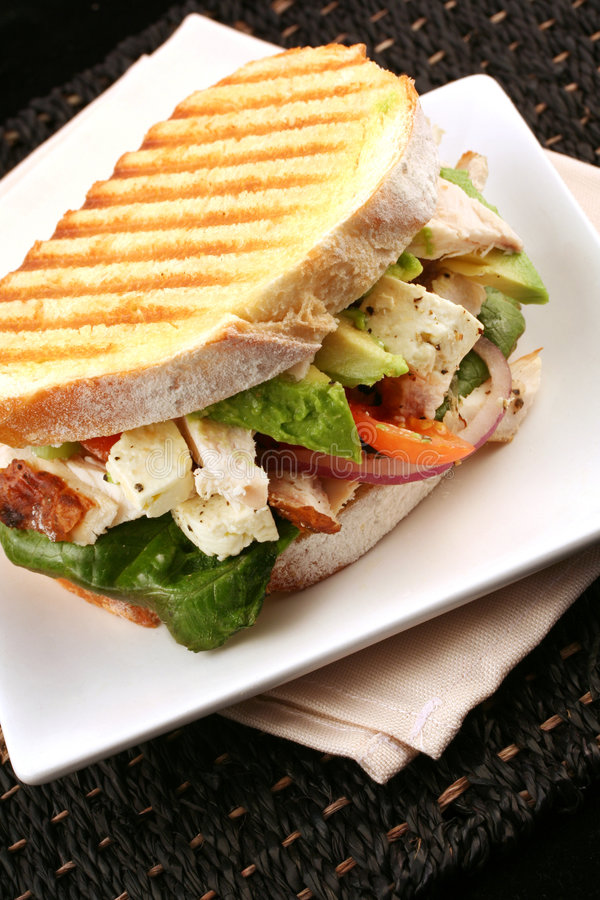 Download Chicken Sandwich stock image. Image of food, grilled, lettuce - 2735243