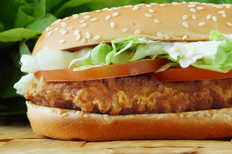 Chicken sandwich stock images