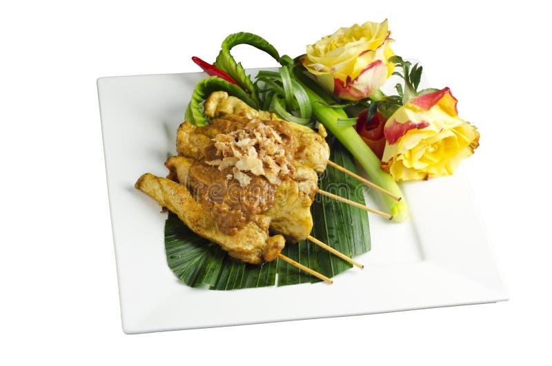 Download Chicken satay stock photo. Image of green, presentation - 25440560