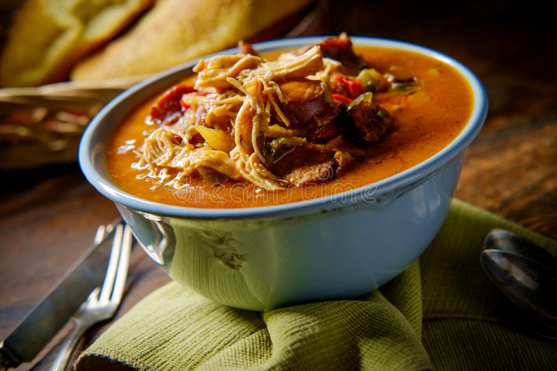 Chicken Sausage Gumbo stock photography