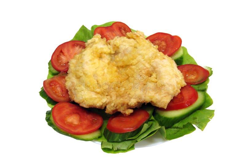 Chicken schnitzel stock images