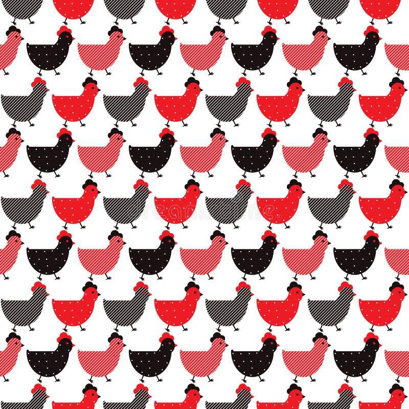 Chicken seamless design stock illustration
