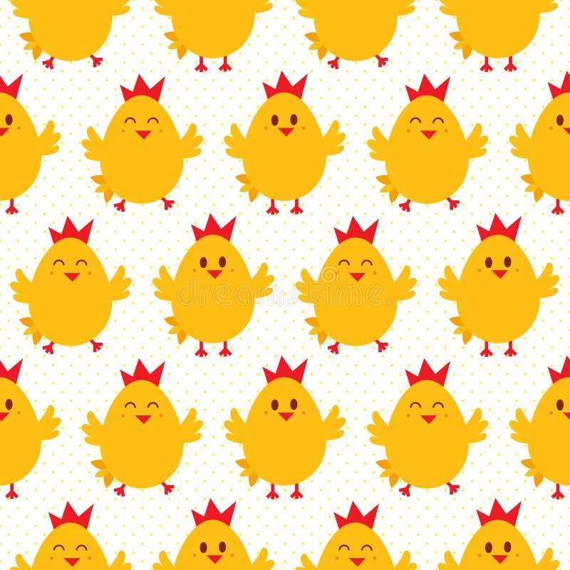 Chicken seamless vector illustration