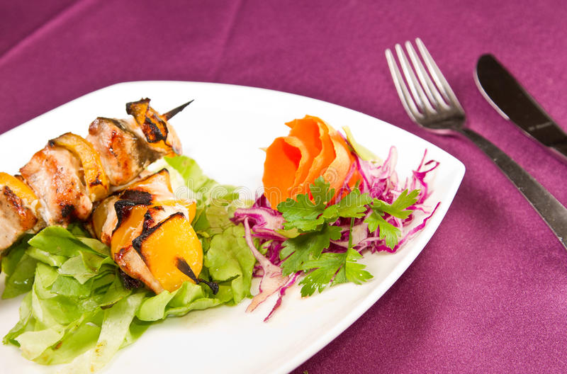 Download Chicken skewers stock photo. Image of cuisine, dinner - 20992062