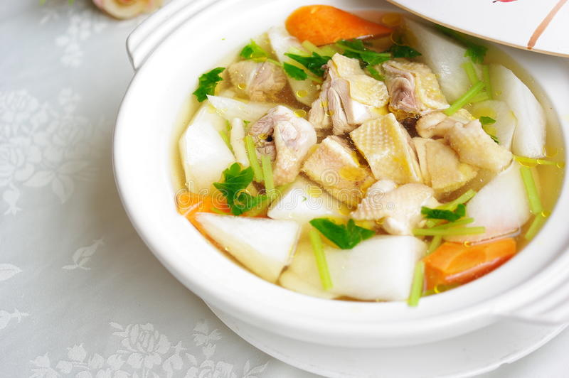 Download Chicken soup stock image. Image of radish, food, vegetables - 14530603