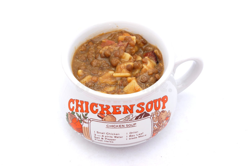 chicken soup στοκ φωτογραφίες
